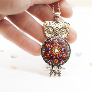Pandantiv Mandala Magic Owl [6]