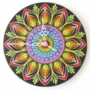 Ceas Mandala decorativ, pentru perete [4]