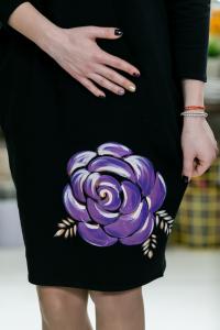Rochie din bumbac pictata manual Dalida [1]