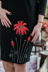 Rochie din bumbac pictata manual Dolya [1]