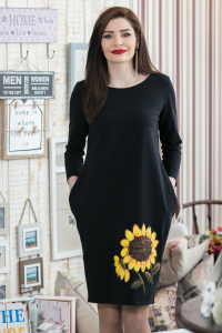 Rochie din bumbac pictata manual Karlyna [0]