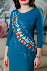 Rochie din bumbac pictata manual Mady [1]