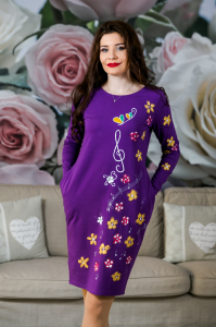 Rochie din bumbac pictata manual Onelya [0]