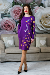 Rochie din bumbac pictata manual Onelya [1]