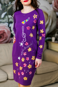 Rochie din bumbac pictata manual Onelya [2]
