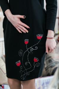 Rochie din bumbac pictata manual Sienna [1]