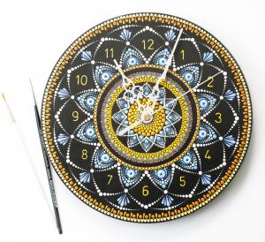 Ceas Mandala decorativ, pentru perete [3]