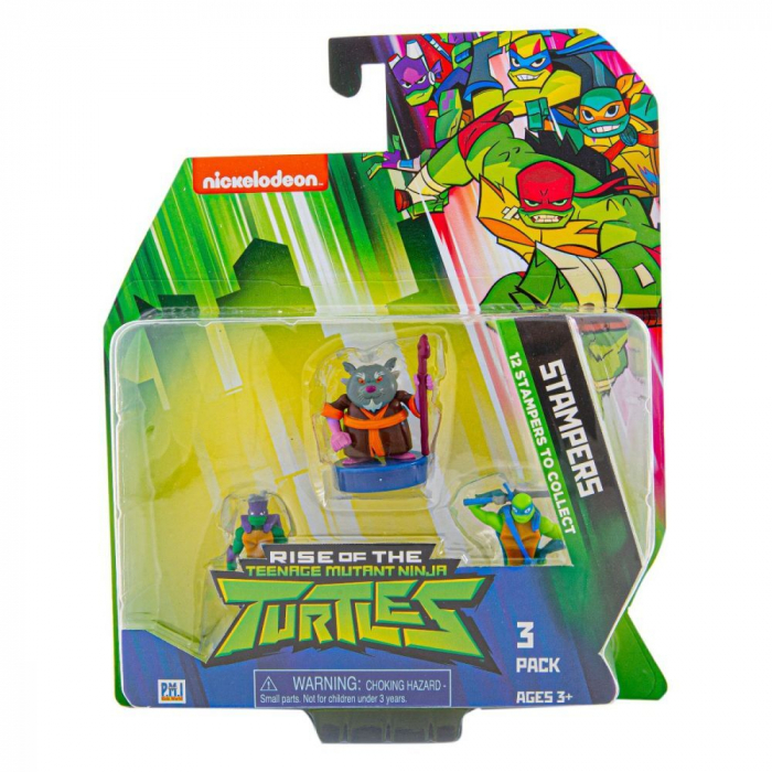 Set 3 figurine stampila Ninja Turtles 0