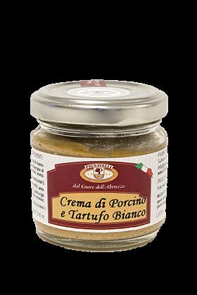 Crema de ciuperci porcini si trufe albe 180 g [0]