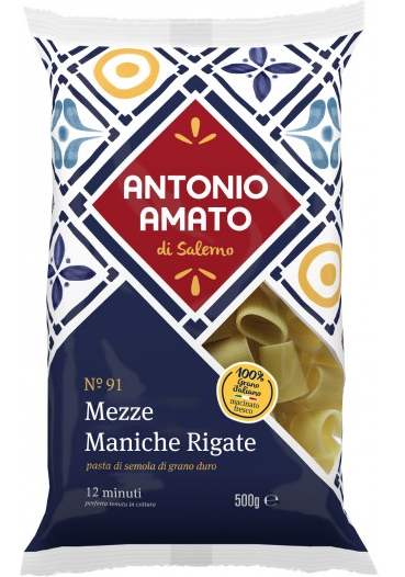 Paste Mezze Maniche Rigate N.91, 500 g [1]