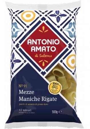 Paste Mezze Maniche Rigate N.91, 500 g [0]