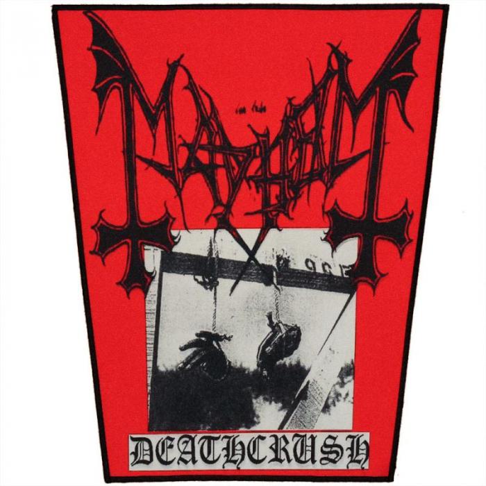 Back Patch Mayhem - Death Crush 0