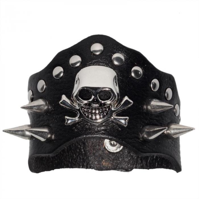 Bratara cu tepi Skull 0