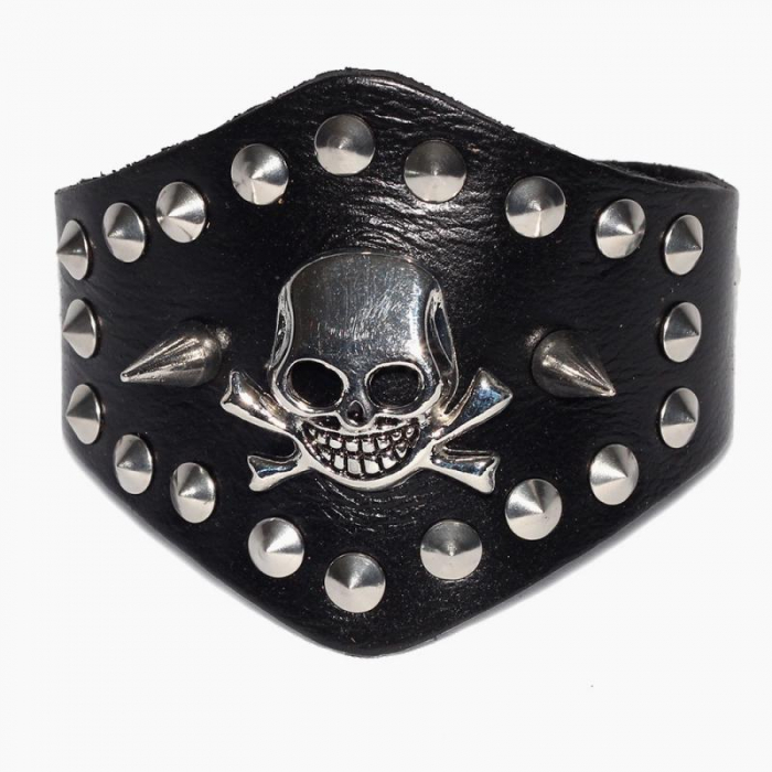Bratara cu tepi Skull&Bones 0