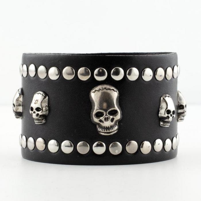 Bratara lata - Five skulls 0