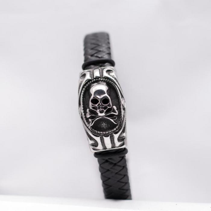 Bratara metalica cu impletitura - Skull [0]