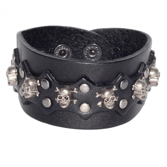 Bratara ovala cu ornament- Skull&Bones 0