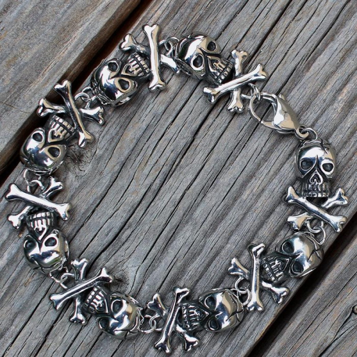 Bratara Stainless Steel - Skull & Bones [1]