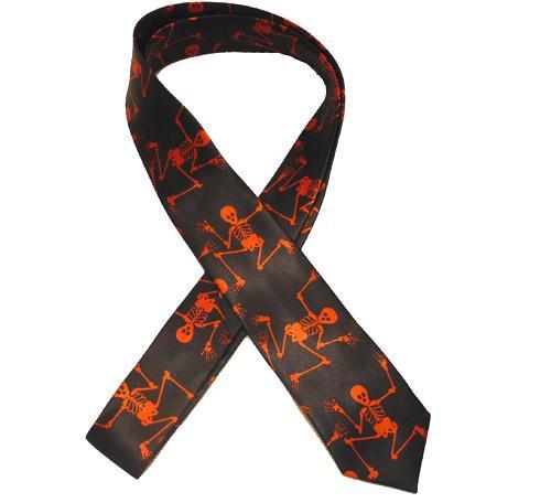 Cravata Neagra Scheleti rosii [0]