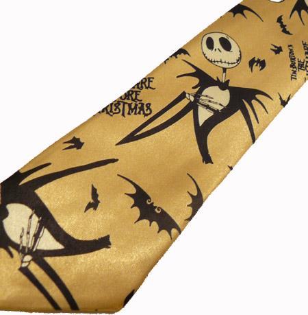 Cravata - Nightmare Before Christmas Gold Tie-044 1