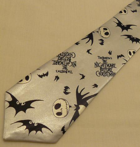 Cravata - Nightmare Before Christmas Silver Tie-043 1