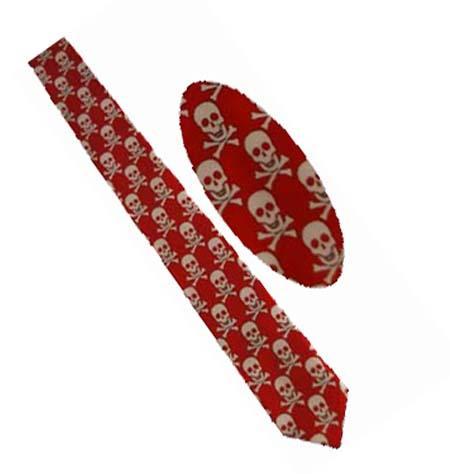 Cravata - Rosie cranii si oase [0]