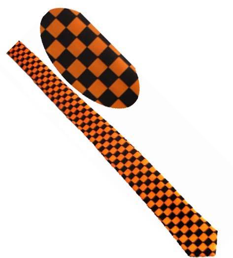 Cravata - Ska portocaliu cu negru 0