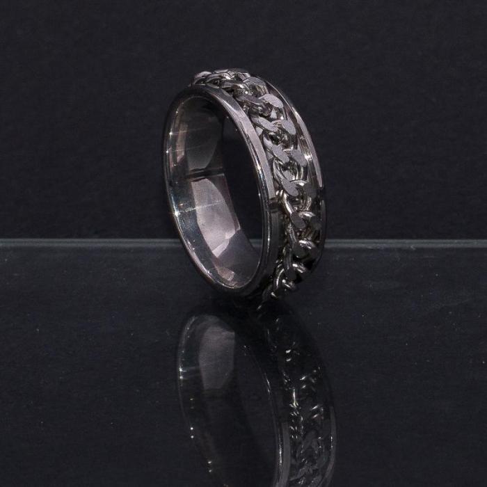 Inel Metalic - Silver Chain 0