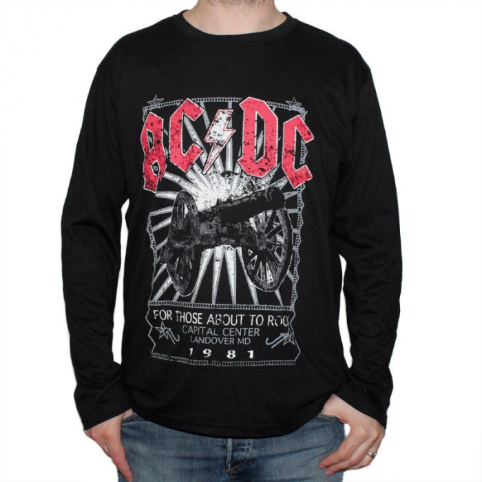 Long Sleeve AC DC - For Those About Rock -1981 [0]