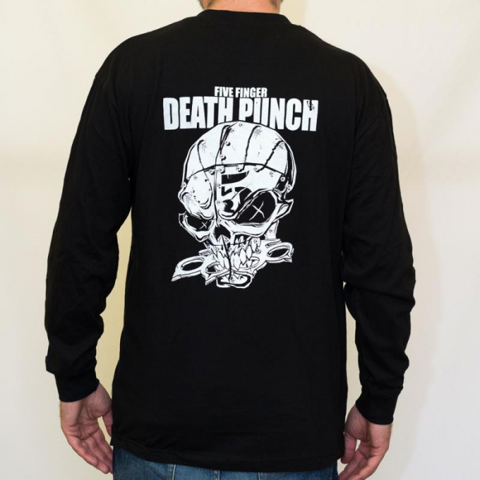 Long Sleeve V Neck Five Finger Death Punch - and Justice 1