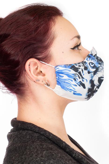Masca bumbac cu filtru - Blue Wolf 2