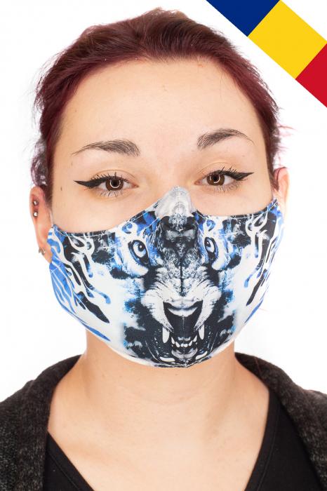 Masca bumbac cu filtru - Blue Wolf 0