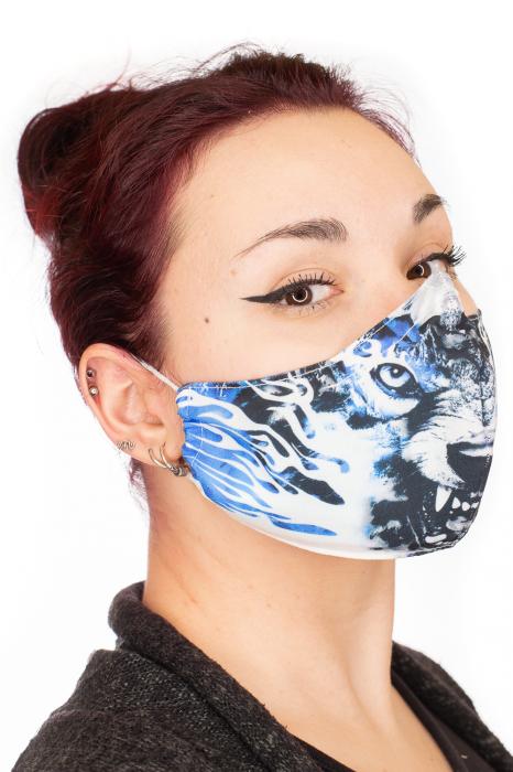 Masca bumbac cu filtru - Blue Wolf 1