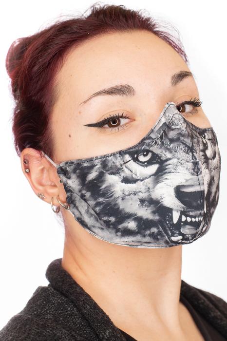 Masca bumbac cu filtru - Grey Wolf 1