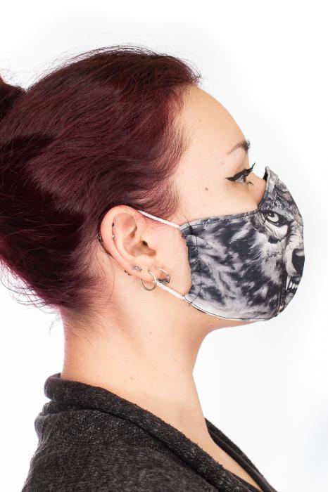 Masca bumbac cu filtru - Grey Wolf 2