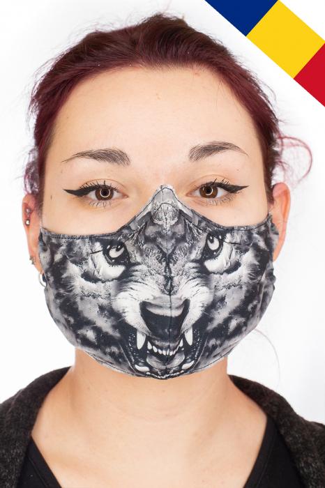 Masca bumbac cu filtru - Grey Wolf 0
