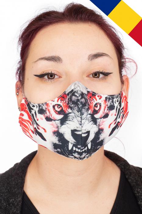 Masca bumbac cu filtru - Red Wolf 0