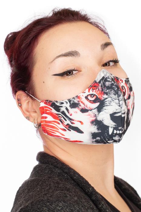 Masca bumbac cu filtru - Red Wolf 1