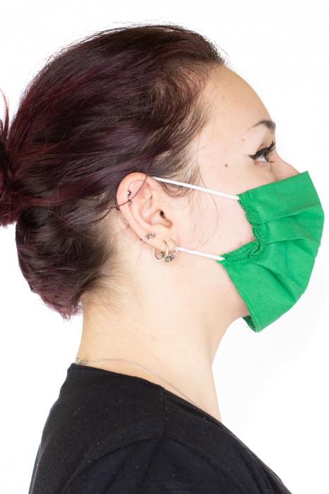 Masca Simpla Colorata - Verde Inchis 2