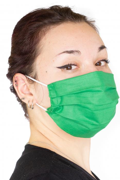 Masca Simpla Colorata - Verde Inchis 1