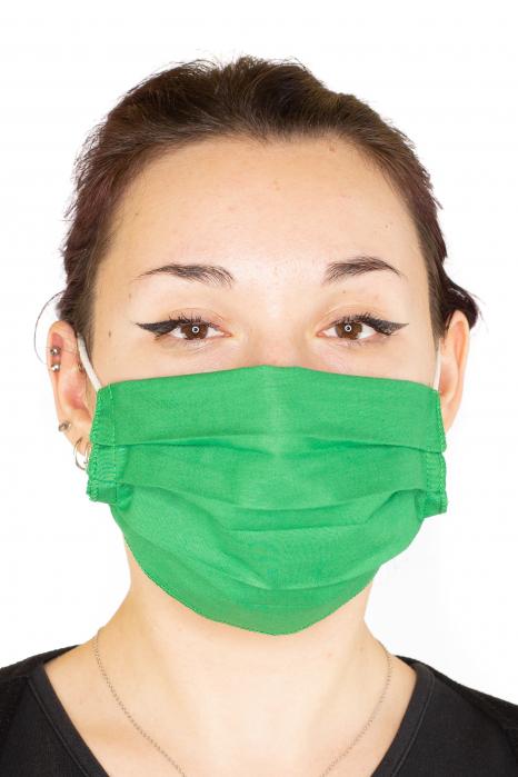 Masca Simpla Colorata - Verde Inchis 0