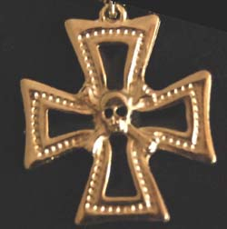 Medalion Cruce De Fier Cu Craniu  [0]