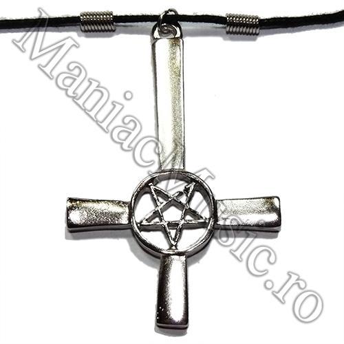 Medalion Cruce Intoarsa -Pentagrama  [0]