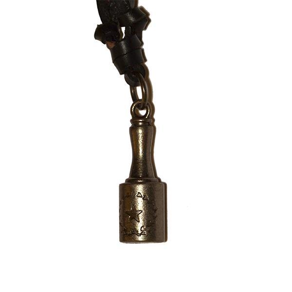 Medalion cu snur din piele-Stea cu lauri 0