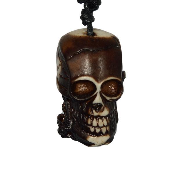 Medalion-fb Horned Skull - white [0]