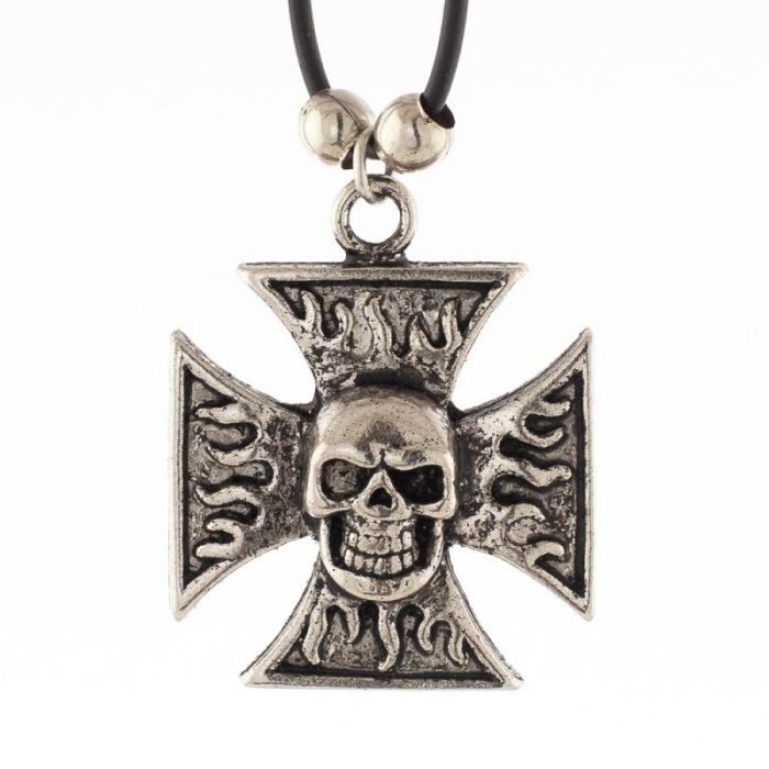 Medalion - Skull Iron Cross 0