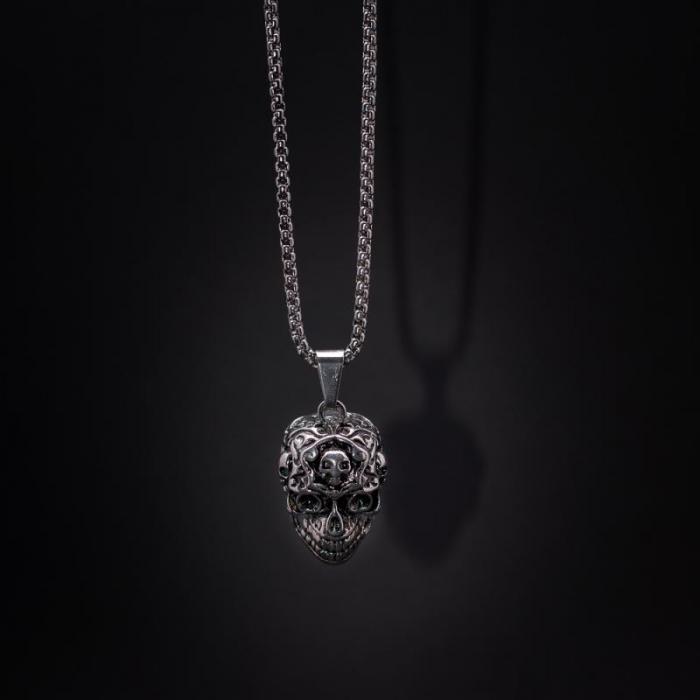 Medalion Stainless Steel - Alien Skull [0]