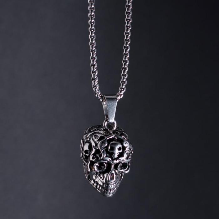 Medalion Stainless Steel - Alien Skull [2]