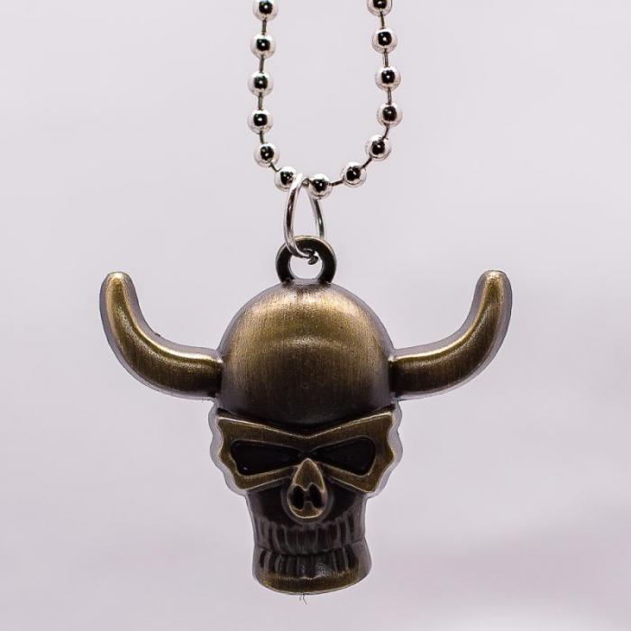 Medalion Stainless Steel - Bronze Skull [1]