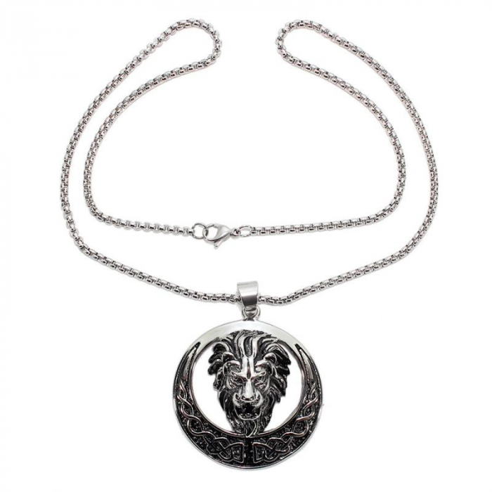 Medalion Stainless Steel - Celtic Lion 1